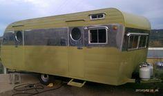 1954 Franklin Travel Trailer vintage Camper Canned Ham