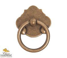 Bosetti Marella 101051 Classic 1-7/8 Inch Diameter Ring Cabinet Pull Dark Antique Brass Cabinet Hardware Pulls Ring