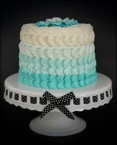 Tiffany Blue 1 Tier Wedding Cake | Wedding Cakes | Pinterest ...