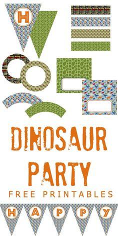 Dinosaur Party Free Printables