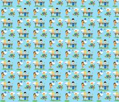 Playful Picnic fabric by kiwicuties on Spoonflower - custom fabric