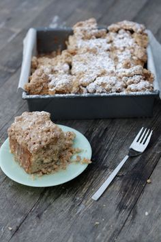 Apple cider crumb cake - best cake ever!