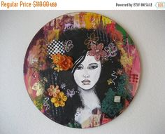 GIFTS FOR GRADS Black Haired Beauty Colorful by CarlasCraft