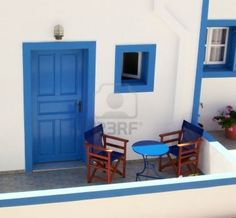 This traditionally painted house is commonly found on greece Stock Photo - 3054169