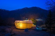 glamping for glampers doughnut-shaped tent village by archiworkshop