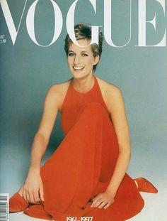 Vintage Vogue magazine covers I Lady Diana — Vogue Vintage, Capas Vintage Da Vogue, Vintage Vogue Covers, Lady Diana Spencer, Vogue Uk, Vogue Fashion, Diana Fashion, Fall Fashion, Style Fashion