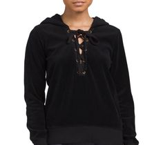 Long Sleeve Lace-Up Hoodie - $49.99