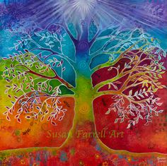 The Chakra Tree of Life by Susan Farrell Art Chakra Painting, Chakra Art, Heart Chakra, Body Painting, Tree Of Life Art, Tree Art, Chakras, Chakra Colors, Ouvrages D'art