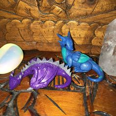 Enchanted Wyvern and Dragon by JinjinCrafts Handmade with Polymer Clay