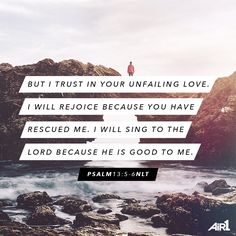 He has rescued us with His unconditional, unfailing love. #VOTD #Bible #Grateful #Rescued
