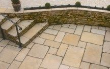 Pavestone Tudor Limestone Cathedral paving. Created to blend sympathetically with older properties and gardens, where the design seeks to provide an established feel. #AntiquePaving #RusticPaving #LimestonePaving