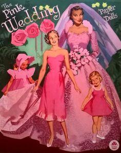The Pink Wedding paper dolls