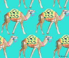 Instant Download Preppy teal camel Digital Paper camel