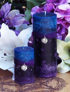 Twilight Sunset Candle 2x3 . Summer Evening by WhiteMagickAlchemy
