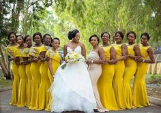 Weddings Discover Yellow bridesmaids dresses for the win! Yellow Bridesmaids Wedding Bridesmaid Dresses Brides And Bridesmaids African Bridesmaid Dresses Wedding Poses Wedding Attire Wedding Ideas Yellow Wedding Wedding Colors Wedding Poses, Wedding Attire, Wedding Dresses, Wedding Ideas, Yellow Wedding, Wedding Colors, Black Red Wedding, Yellow Bridesmaid Dresses, African Bridesmaid Dresses