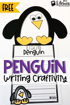 Free Penguin Writing Craftivity