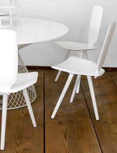 Lacquered wooden chair BAVARESK by DANTE - Goods and Bads | #design Christophe de la Fontaine