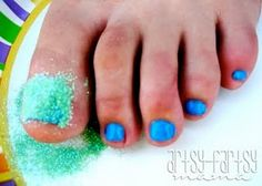 Glitter toes DIY. So doing this!