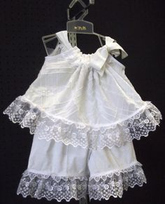 White Detailed Fabric Tie Strap Top and by BlueJeanBabyDesigns, $38.95