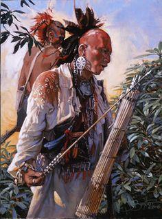 Cherokee Nation of Oklahoma Native American Warrior, Native American Tribes, Native American History, American Indians, Native American Paintings, Indian Paintings, Native Art, Native Indian, Westerns