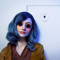 """12.5k Likes, 428 Comments - Rebecca Seals (@rebeccaseals) on Instagram: """"Now, you can stay here forever... ________________________ : @dmpphoto Isn't he incredible?!…""""    (Coraline makeup cosplay)"""