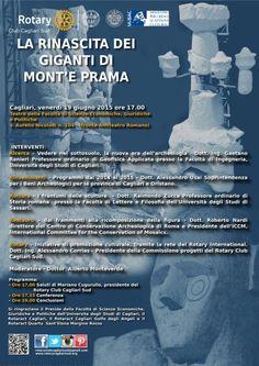 Locandina della conferenza sui giganti di Mont'e Prama del 19/06/2015 a Cagliari.