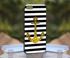 Anchor Gold Bling for iPhone 4 case, iPhone