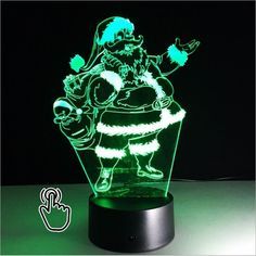 3D LED lights Santa Claus Night Lights 7 Colors Christmas Illusion Led Night Lamp Bedroom  USB Table Lamps Decoration Kids Gift