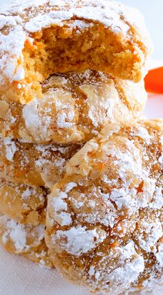 Carrot Cake Gooey Butter Cookies ~ Melt-in-your-mouth, buttery, light and tender, spiced and sweetened just right for classic Carrot Cake flavor, these festive cream cheese cookies are perfect for both spring and Easter as well as fall and Thanksgiving, or everyday. You just can't have one! Included is a scrumptious gluten free variation. Everyone will LOVE them!