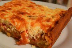 ΜΑΓΕΙΡΙΚΗ ΚΑΙ ΣΥΝΤΑΓΕΣ: Τάρτα με τυριά & μπέικον !! Το κάτι άλλο !!! Lasagna, Quiche, Breakfast, Ethnic Recipes, Food, Morning Coffee, Essen, Quiches, Meals