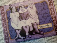 OOAK ACEO ATC collage and ink Remember by PaperPastiche on Etsy, $6.00
