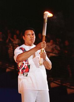 Muhammad Ali was seen trembling when lighting the Olympic flame in Atlanta in 1996