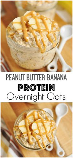 this Clean Eating Peanut Butter Banana Protein Overnight Oats is so yumm! - this Clean Eating Peanut Butter Banana Protein Overnight Oats is so yumm! Just CLICK THE LINK to - Clean Eating Recipes For Dinner, Clean Eating Breakfast, Clean Eating Snacks, Healthy Snacks, Healthy Eating, Protein Snacks, Eating Habits, High Protein, Protein Pancakes