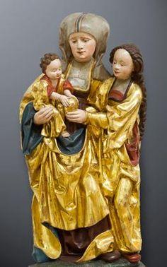 Anna Selbdritt Madonna, Medieval, Saints, Renaissance, Wooden Statues, Santa Ana, St Anne, Museum, European Paintings