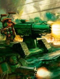 Tech marine and thunder cannon  Imperium of Man