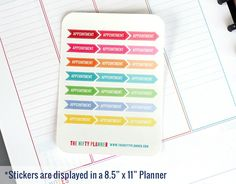 Appointment Flags - 21 Planner Stickers - 1 Sheet | Stickers for your daily planner, calendar, agenda by TheNiftyPlanner on Etsy https://www.etsy.com/listing/228069064/appointment-flags-21-planner-stickers-1
