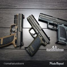 Limited HK USP 45s in Tan, Green, and Grey.