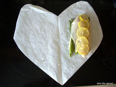 Cooking fish en papillote how-to and sample combinations with links to recipes [How To Cook Fish If You Hate Cooking] Cooking Photos, Cooking Tips, Cooking Recipes, Cooking Corn, Cooking Videos, Fish Recipes, Seafood Recipes, New Recipes, Delicious Recipes