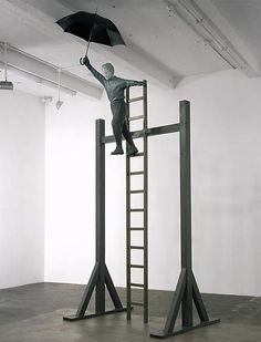 Martin Honert Test of Courage (Flying Classroom) 1999 Installation Art, Art Installations, Rust Never Sleeps, Sculpture Projects, Small Sculptures, Martini, The Selection, It Works, Contemporary Art