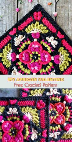 My African Valentino Free Crochet Pattern #freecrochetpatterns