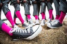 Trendy Groomsmen Socks  Photo by Vernon Wiley