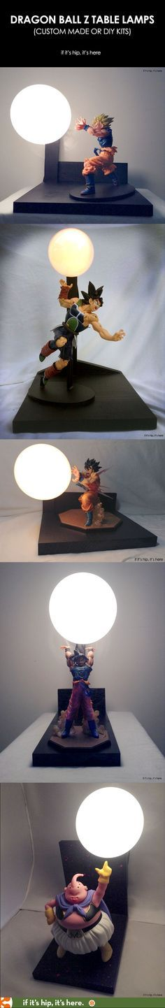 These Dragon Ball Z Lamps Are Awesome Anime Illumination - learn where to get them or make them at if it's hip, it's here