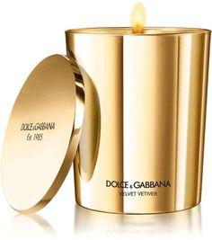 Dolce & Gabbana velvet vetiver gold candle