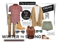 """""""ARS 116: Winter to Spring"""" by antonroberstyle on Polyvore featuring River Island, Oliveve, Ancient Greek Sandals, Ray-Ban, Balmain, Armani Jeans, Chicnova Fashion, Pussycat, Levi's and Wintertospring"""