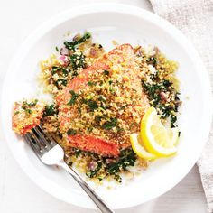 Crispy Citrus Salmon Recipe | Clean Eating - Clean Eating - Improving your life one meal at a time.