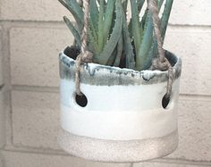 double dipped hanging planter