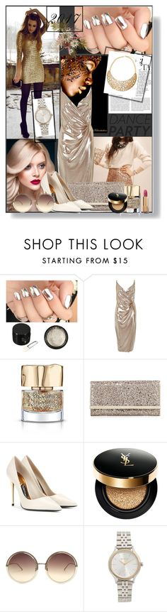 """""""New Year Dance Party!"""" by andy0008 ❤ liked on Polyvore featuring River Island, Smith & Cult, Whiteley, Jimmy Choo, Tom Ford, Yves Saint Laurent, Linda Farrow, Nixon and BCBGMAXAZRIA"""
