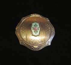 1920's Compact Guilloche Compact Silver Compact Art Deco Compact Powder Compact Mirror Compact Rouge Compact