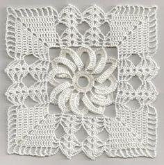 Square em croche 6 - costurando com a agulha de costura ou agulha de croche - CROCHE COM RECEITAS