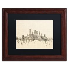 Pittsburgh Skyline Sheet Music II by Michael Tompsett Framed Graphic Art